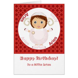 Aries Girl - Happy Birthday Card