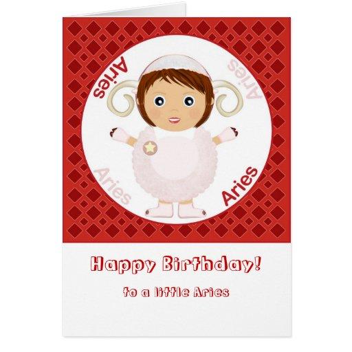 Aries Girl - Happy Birthday Greeting Card