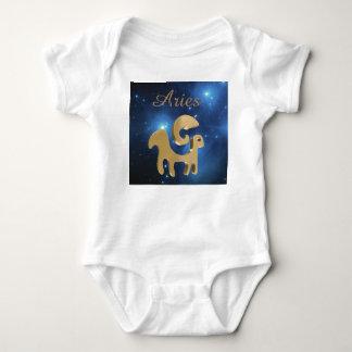 Aries golden sign baby bodysuit