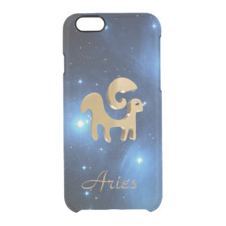 Aries golden sign clear iPhone 6/6S case