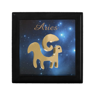 Aries golden sign gift box