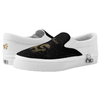 Aries golden sign slip on shoes