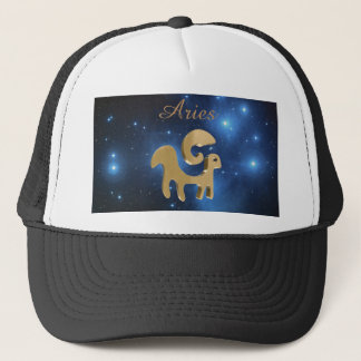 Aries golden sign trucker hat