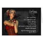 Aries Gothic Zodiac Birthday Card
