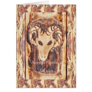 Aries Greek Zodiac Primitive Astrology Greeting Card