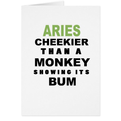 Aries Happy Birthday Card