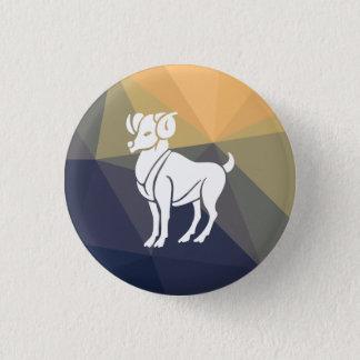 Aries horoscope goat round button