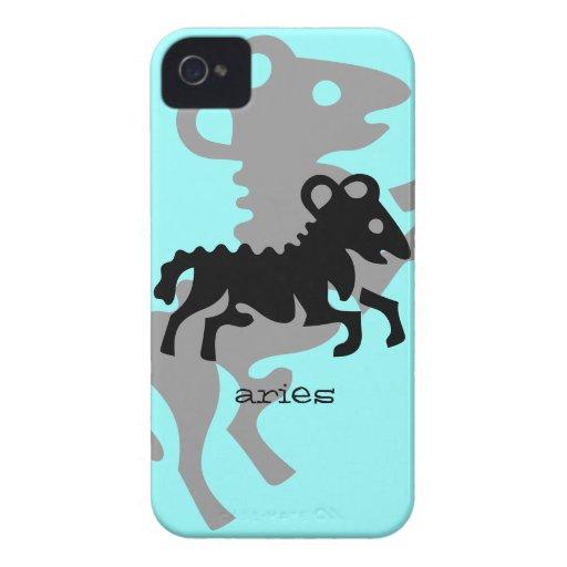 Aries in black iPhone 4 case