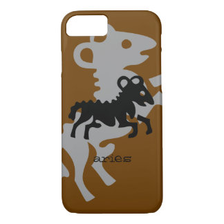Aries in black iPhone 7 case