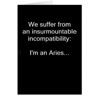 Aries Incompatibility Card