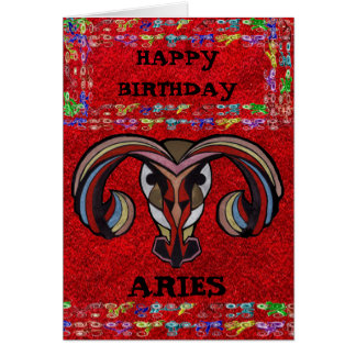 ARIES LOGO COLLECTION GREETING CARD