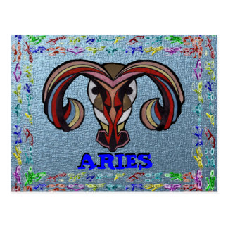 ARIES LOGO COLLECTION POSTCARD