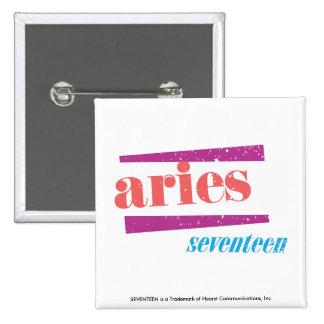 Aries Lt Pink 15 Cm Square Badge