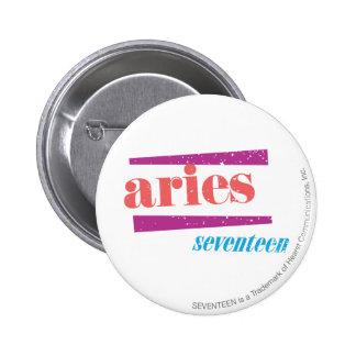 Aries Lt Pink 6 Cm Round Badge