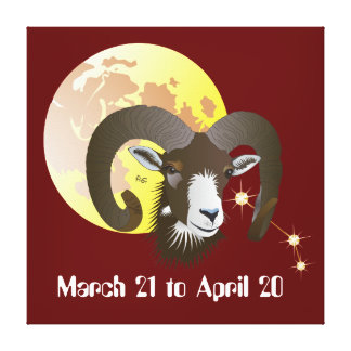 Aries March 21 tons of April 20 Canvas Gallery Wrap Canvas