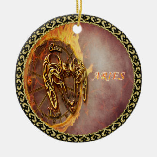 Aries March 21st until April 20th Horoscope Christmas Ornament