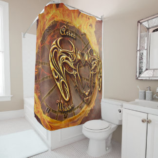 Aries March 21st until April 20th Horoscope Shower Curtain