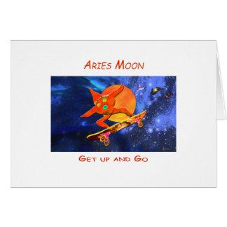 Aries Moon Greeting Card