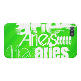 Aries; Neon Green Stripes iPhone 5/5S Case