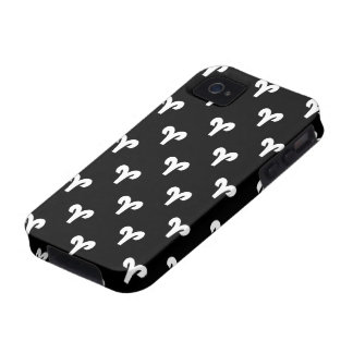 Aries Pattern Black and White iPhone 4 Cases