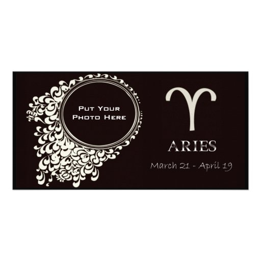 Aries PhotoTemplate Personalised Photo Card
