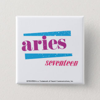 Aries Purple 15 Cm Square Badge