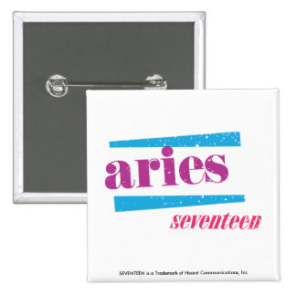 Aries Purple 15 Cm Square Badge
