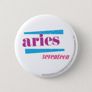 Aries Purple 6 Cm Round Badge