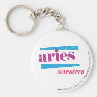 Aries Purple Key Ring