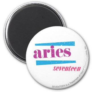Aries Purple 6 Cm Round Magnet