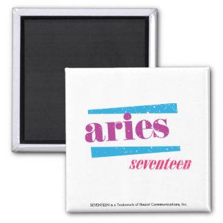 Aries Purple Square Magnet