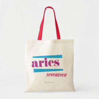 Aries Purple Tote Bag