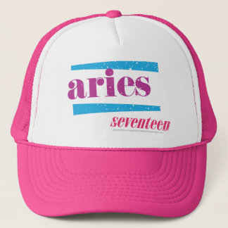 Aries Purple Trucker Hat