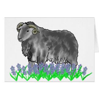 Aries Ram And Bluebells Art Card