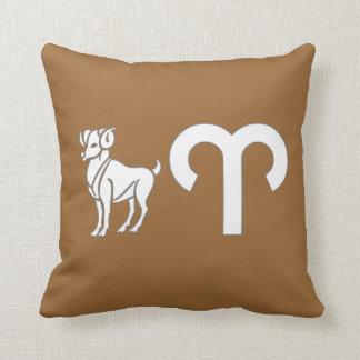 Aries Ram Astrology Sign American MOJO Pillow Cushion