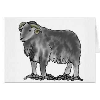 Aries Ram Herdwick Sheep Art Card