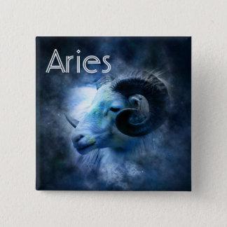 Aries Ram Horoscope Zodiac Sign Button