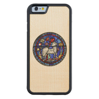 Aries Ram Sheep Year 2015 - Stained Glass Windows Maple iPhone 6 Bumper