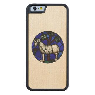 Aries Ram Sheep Year 2015 - Wood Case Maple iPhone 6 Bumper