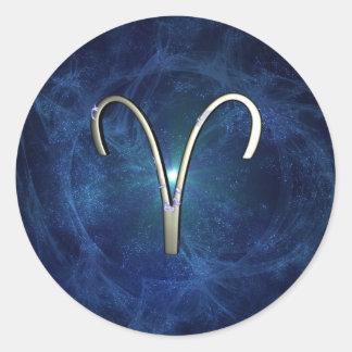 Aries Round Sticker