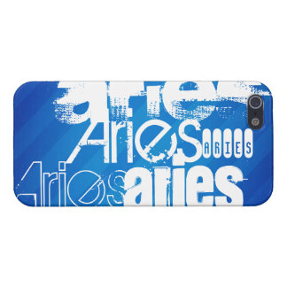 Aries; Royal Blue Stripes Case For iPhone 5/5S