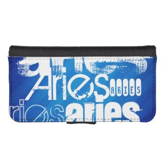 Aries; Royal Blue Stripes Phone Wallet