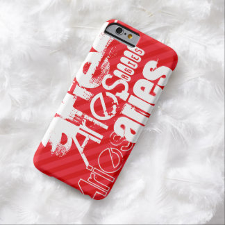 Aries; Scarlet Red Stripes Barely There iPhone 6 Case