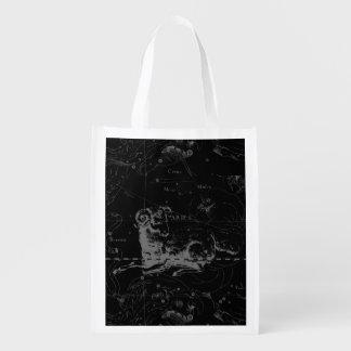Aries Sign Constellation Hevelius circa 1690 Reusable Grocery Bag