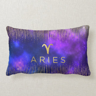 Aries Sign Custom Name Lumbar Throw Pillow
