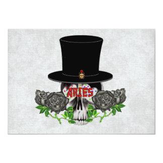 Aries Skull 13 Cm X 18 Cm Invitation Card