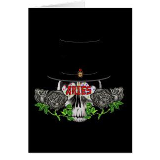 Aries Skull Greeting Card