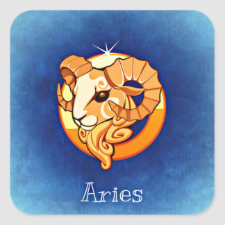 Aries Square Sticker