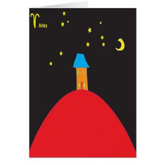 Aries star sign birthday card