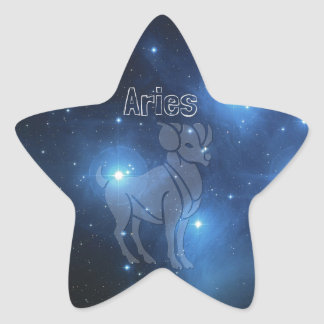 Aries Star Sticker